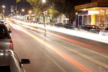 Albany highway at night