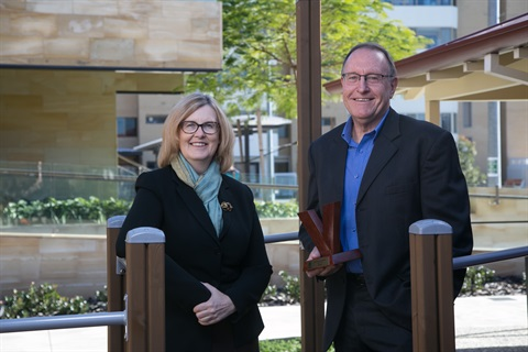 Mayor Karen Vernon and SwanCare CEO Graham Francis.jpg